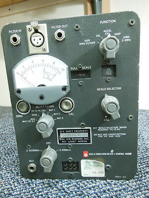 GENERAL RADIO 1553-A EXPERIMENTER VIBRATION METER ☆ Super Clean ☆ Circa 1960 ☆