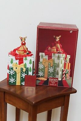 Lenox Rudolph The Red Nosed Reindeer Cookie Jar ~ New In Box