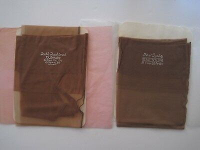 Boxed Two Pairs Of Vintage Fully Fashioned Seamed Stockings.