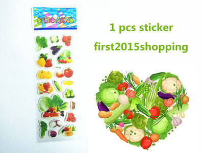 NEW kids wall stickers vegetables pattern cartoon Scrapbooking funny sticker