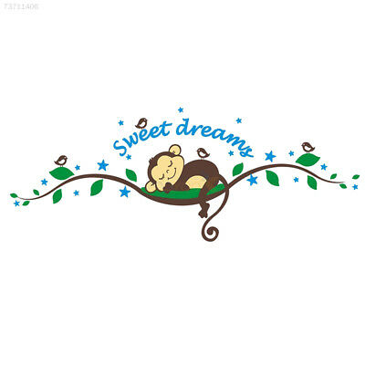 2928 Kids Monkey Sweet Dream Removable Wall Sticker Pasters Decal Nursery Baby D