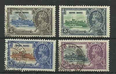 Hong Kong 1935 Set of 4 Silver Jubilee Issues, Sg 133-136, Fine used. [CW 540]