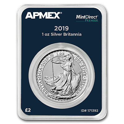 2019 Great Britain 1 oz Silver Britannia (MintDirect® Premier) - SKU#171392