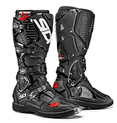 Sidi Crossfire 3 Motocross Boots - Black / Black SIZE EU 42 UK 8 FREE SHIPPING