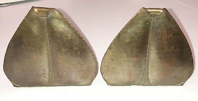 Antique Signed Roycroft Arts & Crafts Hand Hammered Copper Bookends