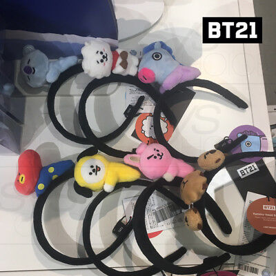 BTS BT21 Official Authentic Goods Plush Hair Band Ver2 7Characters + Tracking #