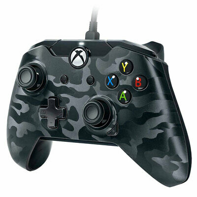 Xbox One Wired Controller BLACK CAMO - Officially Licensed New and Sealed