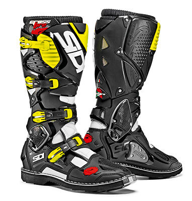 Sidi Crossfire 3 Motocross Boots - Black / Fluo Yellow SIZE EU 42 UK 8