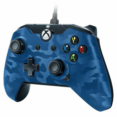 Xbox One Wired Controller BLUE CAMO - Officially Licensed New and Sealed