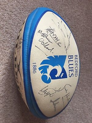 Genuine Bedford Blues Signed Rugby Ball