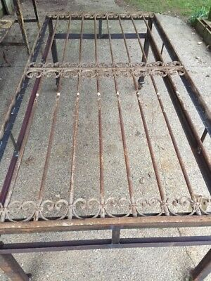 Antique Victorian Iron Gate Window Guard Architectural Salvage DiningTable #1