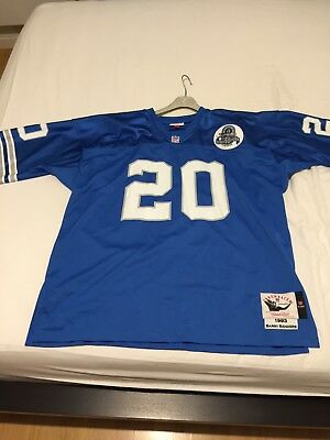 Maillot Foot US NFL Mitchell & Ness Barry Sanders Lions XXL TBE