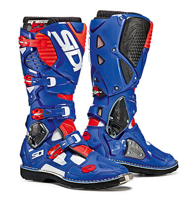 Sidi Crossfire 3 Motocross Boots - White / Blue / Fluo Red SIZE EU 47 UK 12