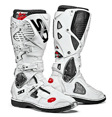 Sidi Crossfire 3 Motocross Boots - White SIZE EU 45 UK 10,5 FREE SHIPPING