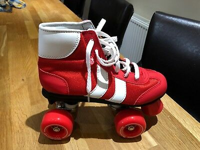Brand New Rookie Roller Boots, Red/White, Size 2