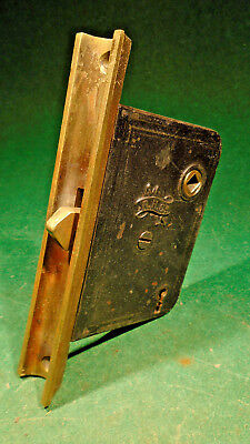 Circa 1885 Reading Hardware Male Pocket Door Mortise Lock - Nice (11139)