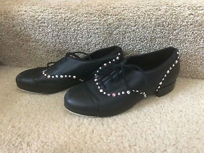 "Bloch ""Respect"" Tap Shoes Women's Size 9 with Rhinestones"