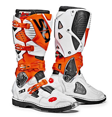 Sidi Crossfire 3 Motocross Boots - White/Orange SIZE EU 44 UK 9,5 FREE SHIPPING