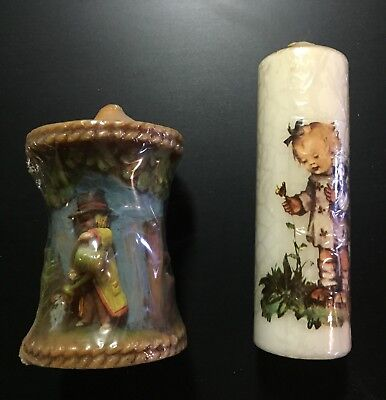 Vintage German Candle Lot - 2 Candles New in Package