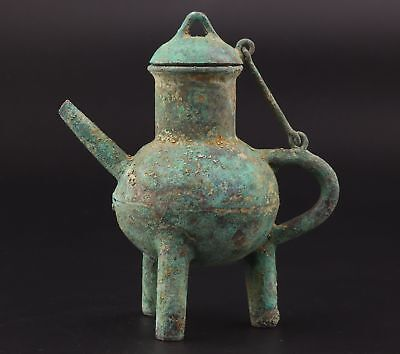 Qing Dynasty Precious Chinese Bronze Wine Pot Collection Gifts