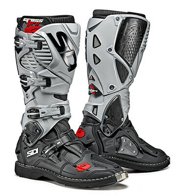 Sidi Crossfire 3 Motocross Boots - Black / Ash SIZE EU 44 UK 9,5 FREE SHIPPING