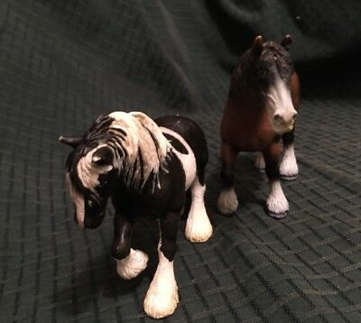 Schleich - HORSES Lot Of TWO - Collectible Figures / Toy Bay Paint