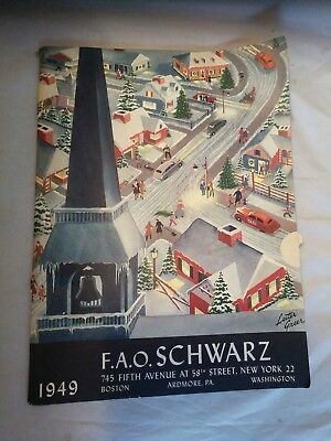 1949 FAO SCHWARZ Christmas Toy Catalog Rare