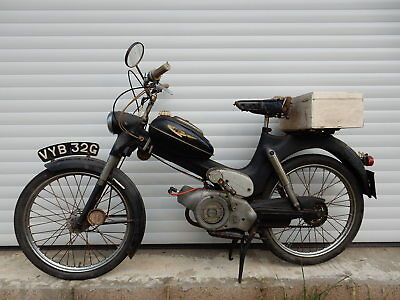 Rare 1969 Puch Ms50V 50 Moped (2 Speed In Black) Restoration / Parts / Barn Find