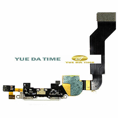 New White Dock connector for iPhone 4s 4gs A1387 Charging Port Flex Cable