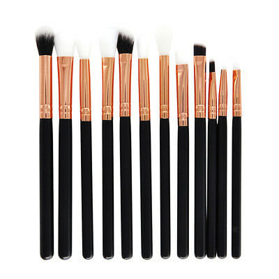12 Pcs Pro Eyeshadow Makeup Brushes Rose Gold Eye Shadow Blending Brush Set