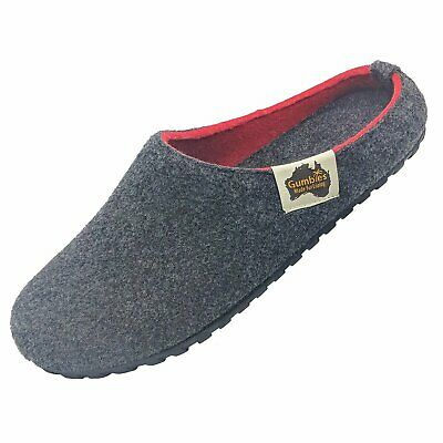 Gumbies - Outback Slipper Charcoal & Red