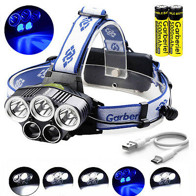150000Lumen 5 Head LED Headlamp Rechargeable 18650 Headlight Head Torch Lamp USA