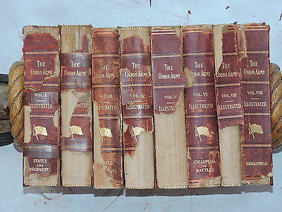 The Union Army History Of Military Affairs 1908 8 Vols. Civil War 1861-65  Rare