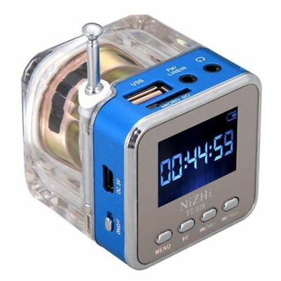 Digital Fm Radio Mini Speakers Music Portable Fm Radio USB Disk MP3 Player LCD