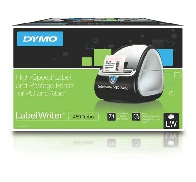 1  Dymo LW450T Turbo 450 LabelWriter SD0840370 Labelling Machine Label Printer