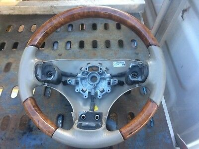 Rover 75 Wood Steering Wheel Light Oak & Sandstone Leather