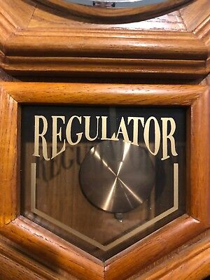 Sterling And Noble  Schoolhouse Regulator  Wall Clock With Westminster Chime