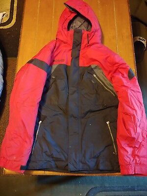 Columbia Boys Youth Winter Jacket Red, Gray, Charcoal-Size 18/20