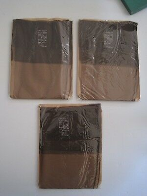"""Boxed Three Pairs Of Vintage """"non-Run"""" Seamed Stockings. Size 10 1/2."""