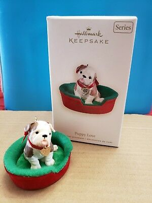Puppy Love Hallmark Keepsake Ornament - Bulldog - #17 In Series - 2007