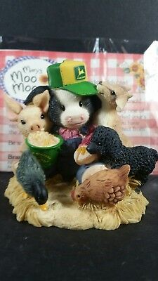 Mary's Moo Moos HAVING (John) DEERE FUN AT THE FAIR Cow Special Event Figurine