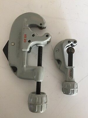 2 Ridgid Tubing Cutter No 15 & 20 Nice Condition