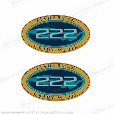 Grady White Fisherman 222 Logo Decals (Set of 2) - Decal Reproductions in Stock