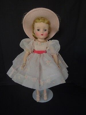Vintage Madame Alexander Elise Doll, 15 1/2 Inches, Tagged, All Original, EC