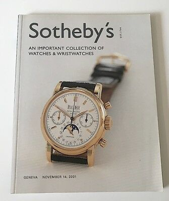 "Sotheby's ""A Collection of Important Watches & Wristwatches"" November 14, 2001"