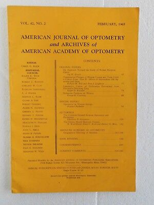 American Journal of Optometry and Archives of American Academy (Pb  Feb 1965)