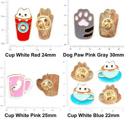1pc Cat Gold Color Plated Enamel Collar Badge Brooch Lapel Pins Jewelry Metal Fi