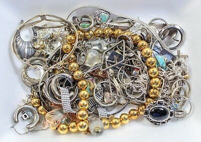 Scrap Sterling Silver Lot Of Jewelry 11.6 Ounces Some Wearables Odds N Ends +