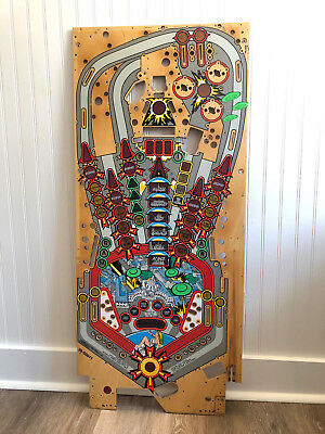 Bally Attack from Mars Pinball Machine Game Playfield Board