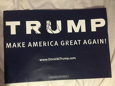 donal trump signed poster 2016 campaign poster